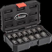 Професійний набір головок торцевих 13 предметів Vigor (V5550S)