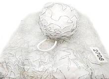 Резинка бантик для волос белая 20 шт