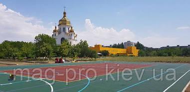 Запорожье. Спортивная площадка на территории церкви.