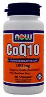 Коэнзим, q10, Now Foods, CoQ10, 100mg, 90caps