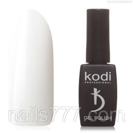 Гель лак Kodi  №01BW, белый, фото 2