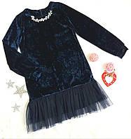 """Нарядное детское платье """"Милена"""", размер 128, 134, 140, темно синий, фото 1"""