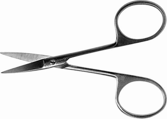 Ножницы вертикально-изогнутые остроконечные 100 мм.