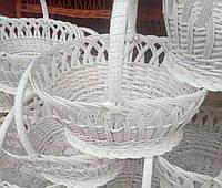 Корзины плетеные белые пасхальные из лозы