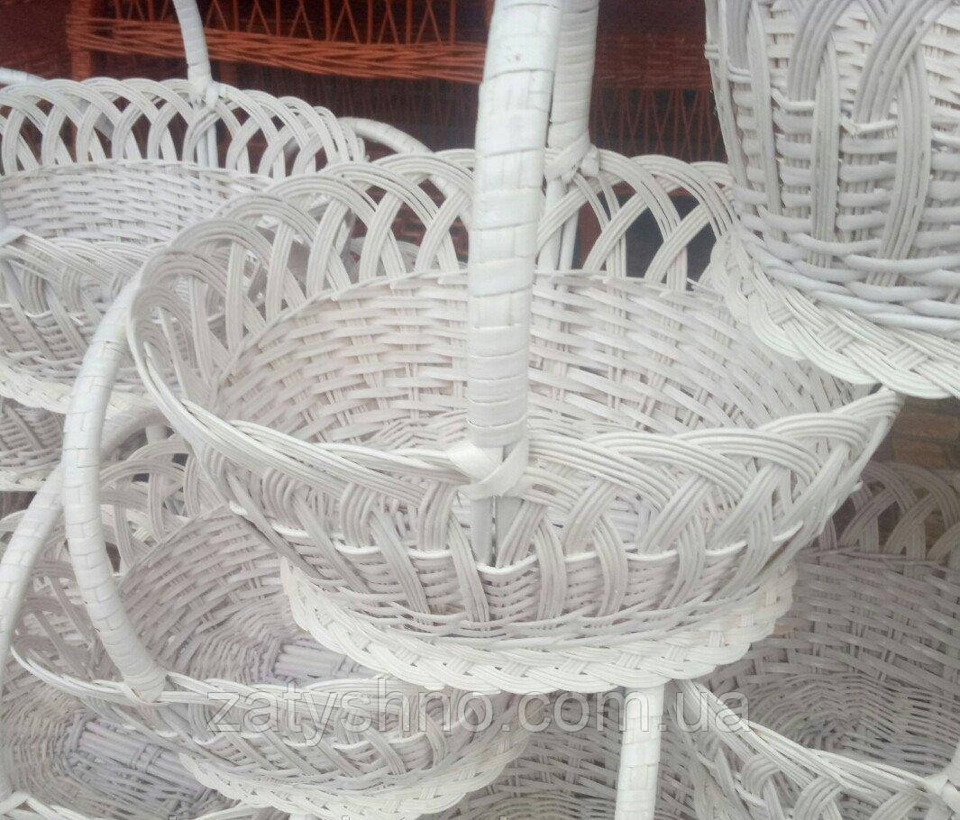40509d1d0fb30 Корзины плетеные белые пасхальные из лозы - Интернет-магазин