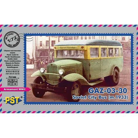 АЗ-03-30 пассажирский автобус 1933 г.. 1/72 PST 72082, фото 2