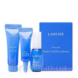 Набор миниатюр увлажняющих средств Laneige Water Bank Moisture 3 Kit