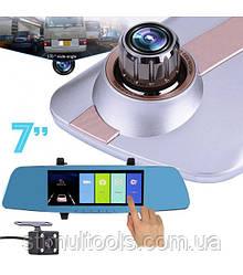 Відеореєстратор - дзеркало сенсорний, 7 дюймів, L1003M C з двома камерами