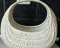 Корзина плетеная  белая подарочная