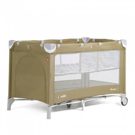 Манеж-кровать CARRELLO Piccolo+ CRL-9201 Caramel Beige, фото 2