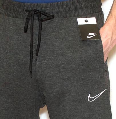 Мужские спортивные штаны Nike 0824 на манжете (копия) М-XL, фото 3