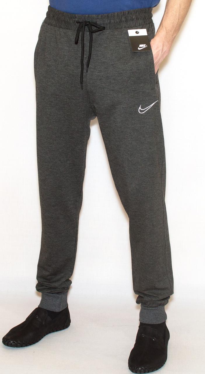 Мужские спортивные штаны Nike 0824 на манжете (копия) М-XL