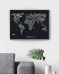 """Скретч карта мира """"Travel Map LETTERS World"""" в тубусе"""
