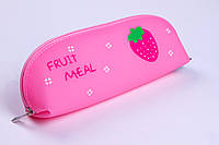 """Пенал-косметичка №1571 """"Fruit meal"""",1 отделение, силикон NEW, пеналы для школы"""