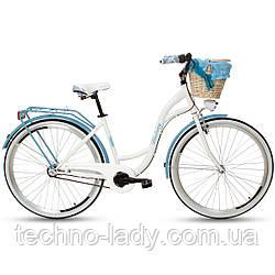 Велосипед женский городской прогулочный Goetze BLUEBERRY 28 3 передачи