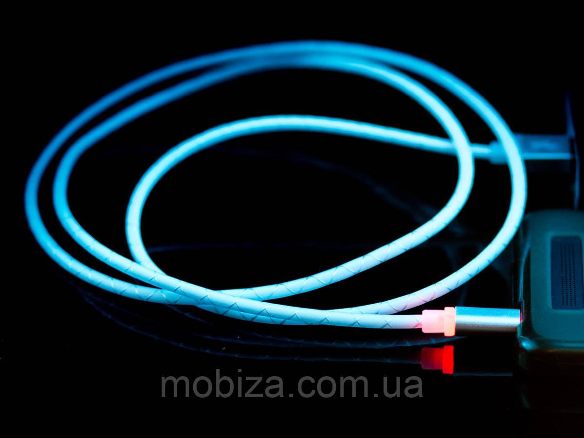 LED-кабель DENGOS з індикатором заряду USB 2.0, micro-USB (білий)(PLS-M-LED-IND-WHITE)