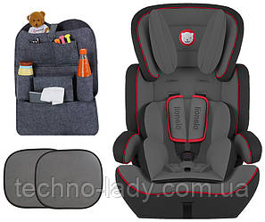 Автокресло Lionelo Levi Plus Black/ Red (9-36 кг) Польша