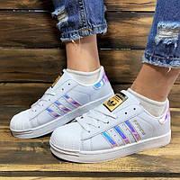 Женские кроссовки Adidas Superstar Iridescent белые р.40 Акция -48%! a55fb6871f455