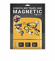 Скретч Карта Мира Travel Map  MAGNETIC World, фото 2