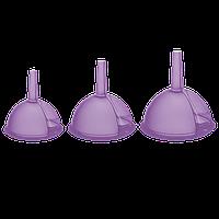 Воронка набор 3 шт фиолетовая