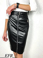 Женская кожаная юбка разных цветов  , фото 1