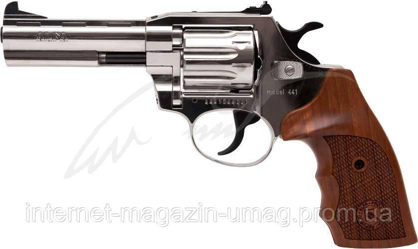Револьвер флобера Alfa mod.441 4 мм никель/дерево