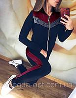 Костюм спортивный женский с люрексовой вставкой, фото 1