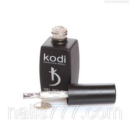 Гель лак Kodi  №20SH, с серебристыми микроблестками и голографическими блестками, фото 2