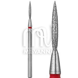 Насадка алмазная пламя SP-501 (мягкая насечка) красная d=1.3 мм h=7.5 мм