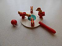 Деревянные цыплята - игрушка для детей