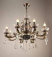 Люстра-свеча на 8 лампочек античная бронза IS-4134/8/AB