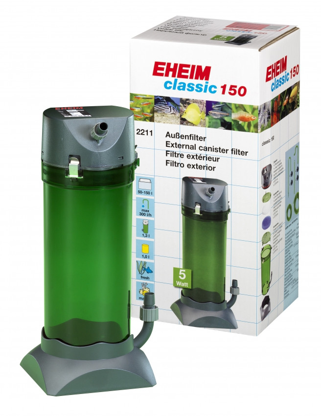 Внешний фильтр EHEIM Classic-2211Plus для аквариумов до 150 л.