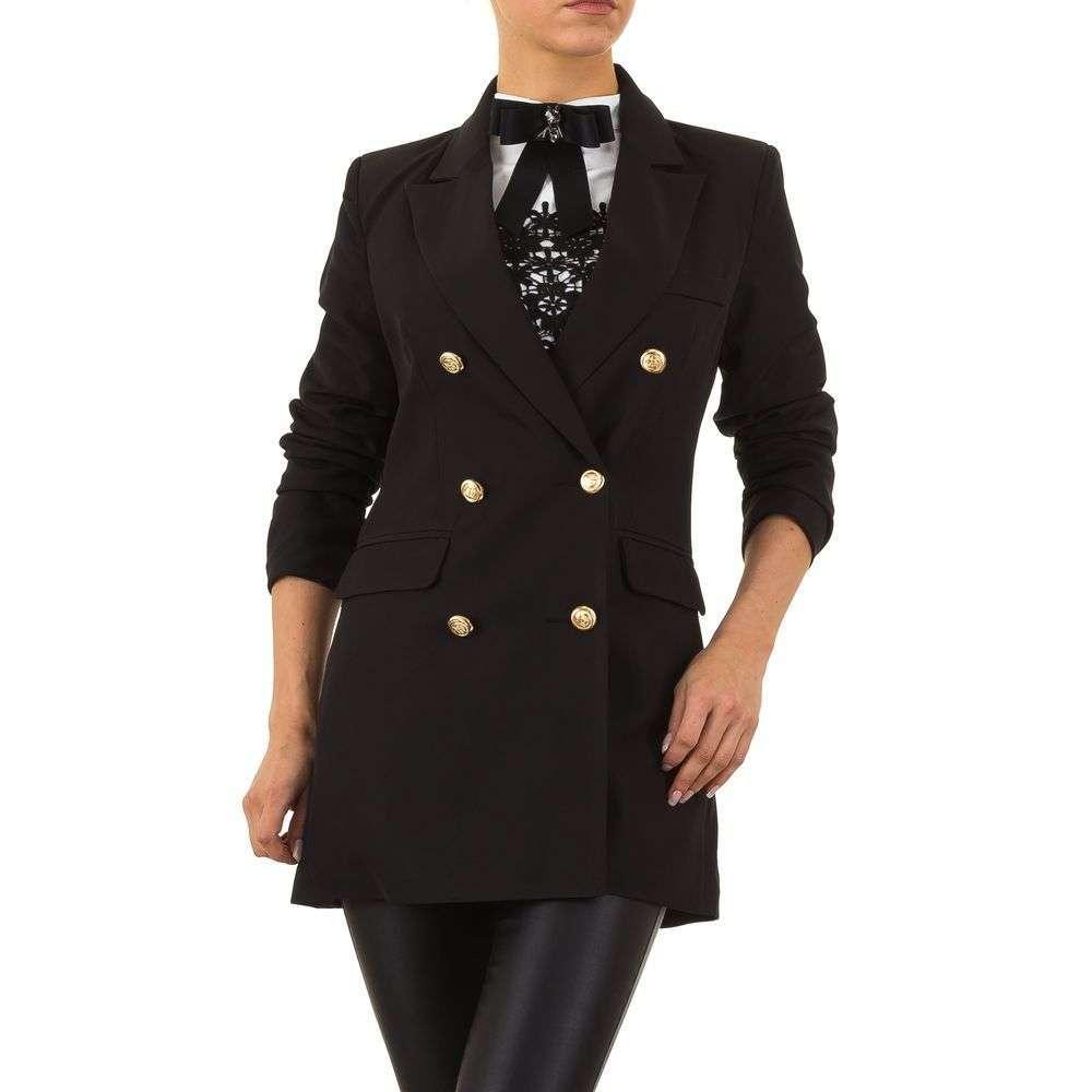 Пиджак женский удлиненный двубортный Emma&Ashley (Европа), Черный