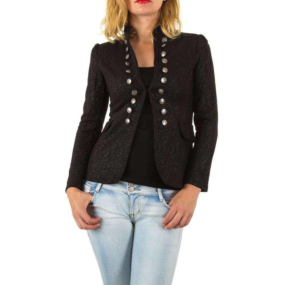 Пиджак милитари женский текстурный (Европа), Черный