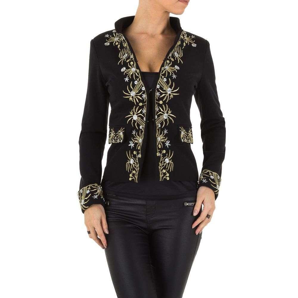 Пиджак женский с вышивкой (Европа), Черный