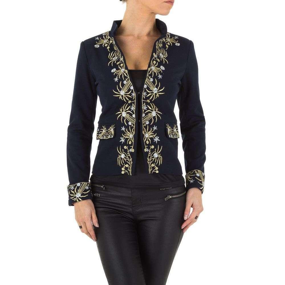 Пиджак женский с вышивкой (Европа), Темно-синий