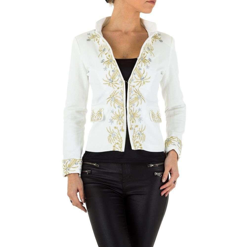 Пиджак с золотой вышивкой женский  (Европа), Белый