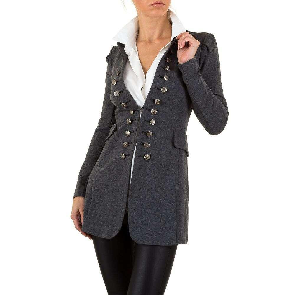 Пиджак милитари удлиненный женский (Европа), Серый