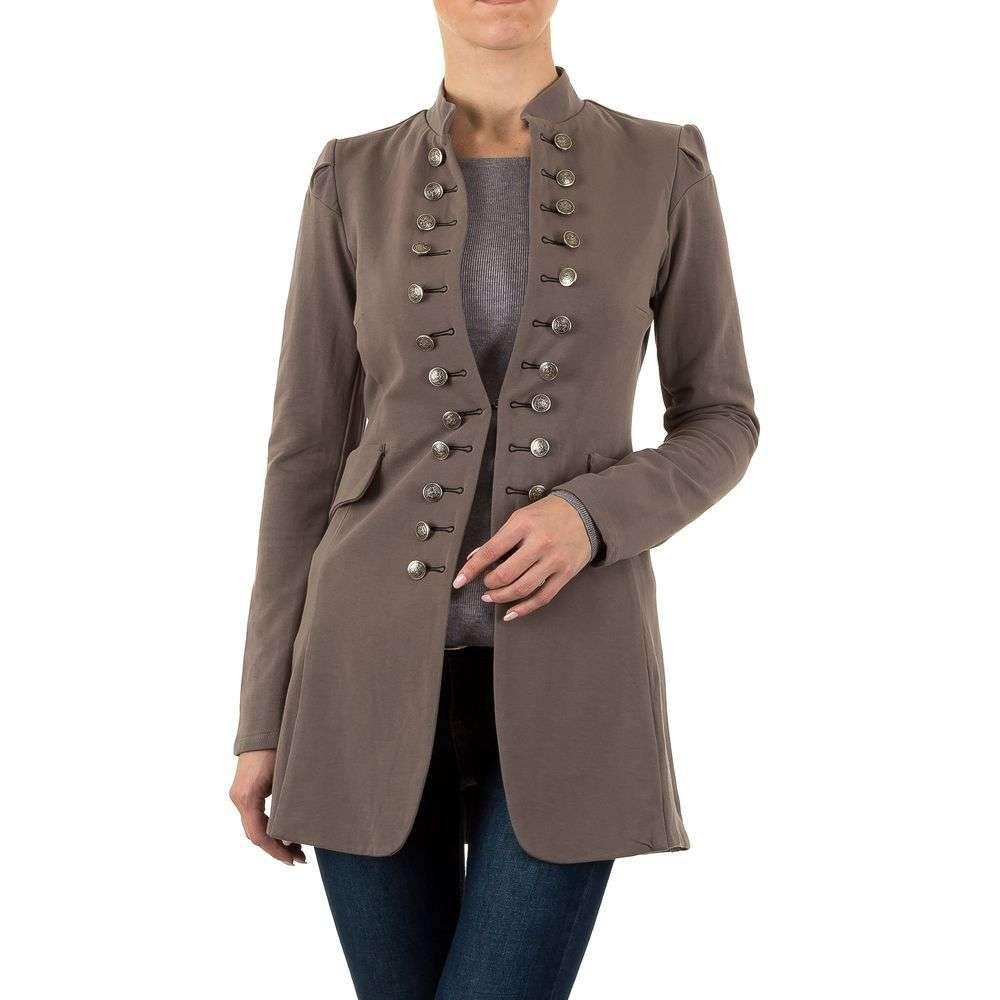 Удлиненный пиджак женский в стиле милитари  (Европа), Коричневый