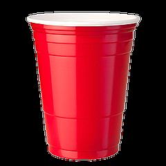"""Стаканы пластиковые PS """"Huhtamaki"""" 400мл 50шт  Красные"""