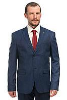 Меланжево-синий мужской пиджак Victor Enzo 5005-02