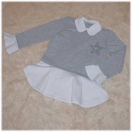 Кофта-обманка на девочку серого цвета TOONTOY (Турция) 116 122 134, фото 2