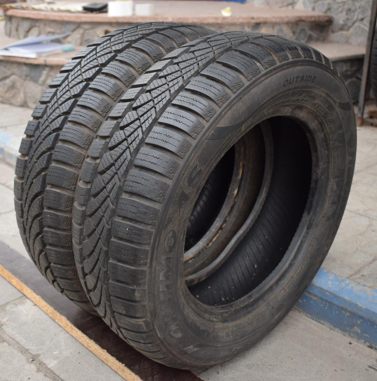 Всесезонні шини б/у 175/65 R13 Hankook Optimo, 7-8 мм, пара
