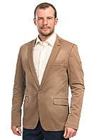 Оригинальный мужской пиджак с пуговицей на лацкане Andromax