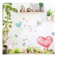 Декоративная наклейка на стену, мебель для дома и кафе, детского сада  (64537)