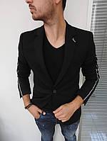 Мужской классический пиджак /чёрный/белый/серый/синий