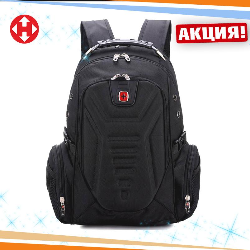 f9950fbf4eb4 Вместительный рюкзак SwissGear Wenger, свисгир. Черный. + Дождевик. 35L