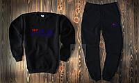 Мужской спортивный костюм, чоловічий костюм Fila (черный), Реплика