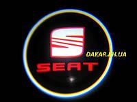 Проектор логотипа Seat в автомобильные двери Сеат
