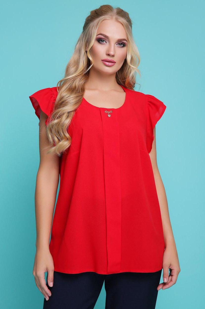 c904d6987de Блузка женская шифоновая нарядная блуза трикотажная летняя больших размеров  рукав волан - Интернет магазин Sport-